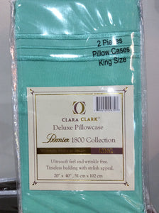 1800TC Pillowcases  White King Size.