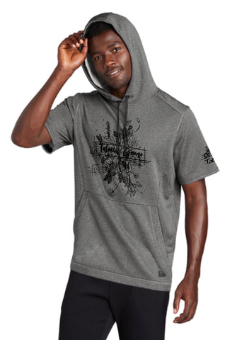 Mens Short Sleeved Hoodie
