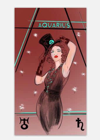 Aquarius Zodiac Sticker