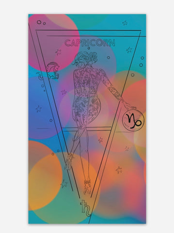 Capricorn Zodiac Holographic Sticker