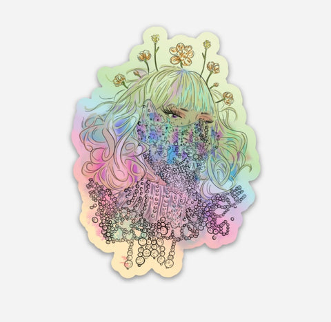 Stay Safe Holographic Sticker