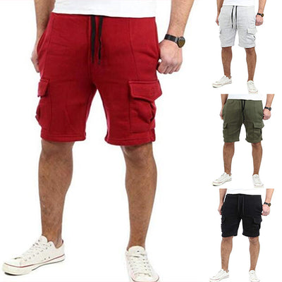 New Men's Multi-pocket Sports Drawstring Shorts