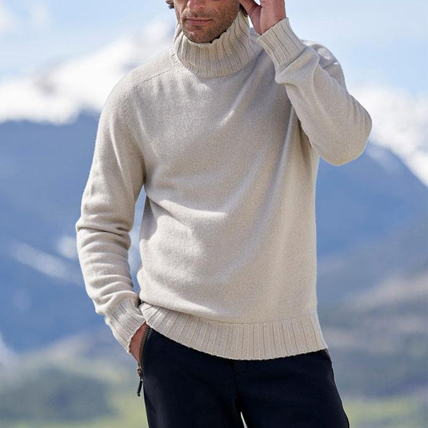 Dinghy cashmere turtleneck ski sweater