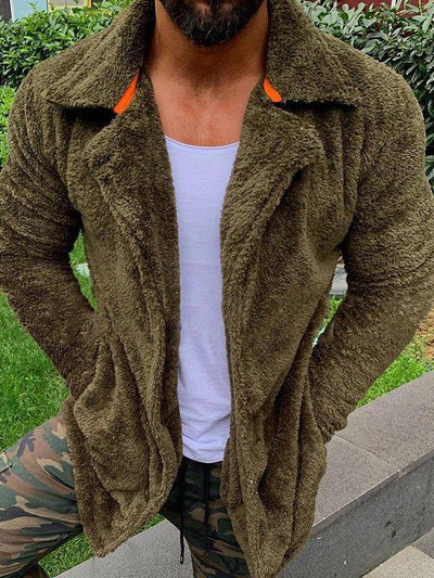 Plush Lapel Coat