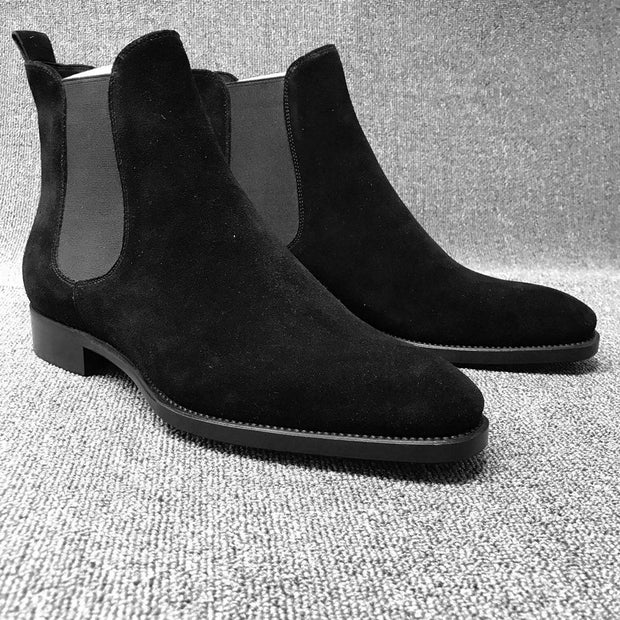 Men's Vintage Pointed Frosted Chelsea Boots