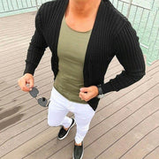 Solid Color Knitted Cardigan Jacket