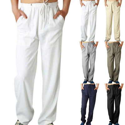Men's Casual Linen Trousers