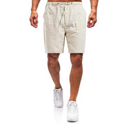 Linen Straight Pants Loose Fit Homewear Leisure shorts