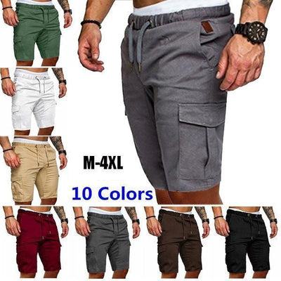 Summer Men's Fashion Beach Loose Cargo Shorts