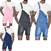 Men's Casual Denim Overall Shorts