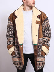 Men's Vintage Printed Jacket