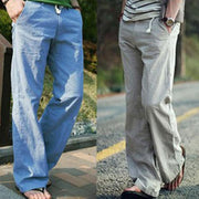 All Season Men's Casual Straight Solid Beach Pants