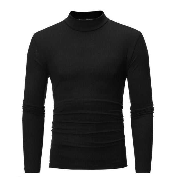 Autumn and winter new men's small high neck design long sleeves