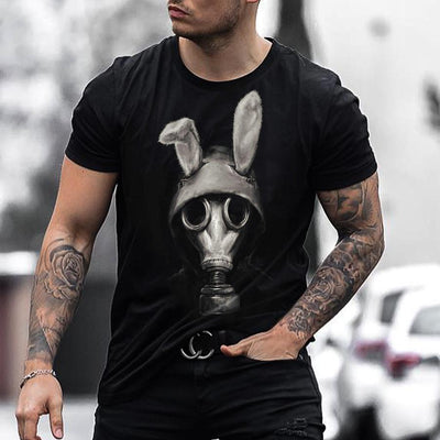 Black Rabbit Printed Mens TEE