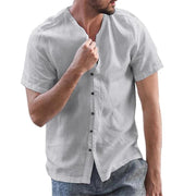 Button Down Herren Round Neck Shirts