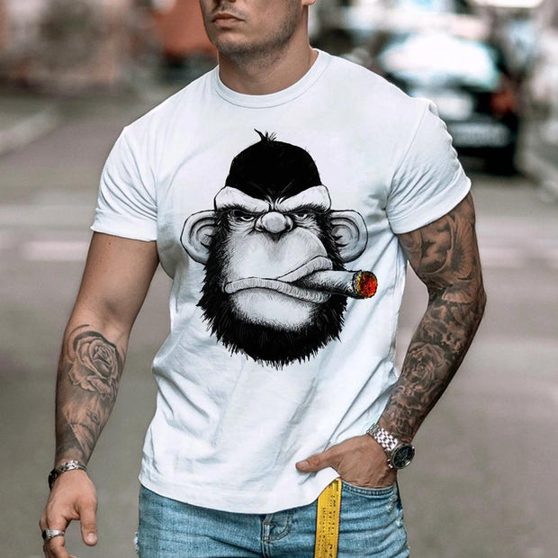 Fashion Gorilla Print Short Sleeve T-shirt