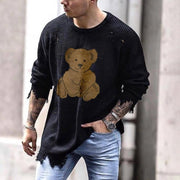Fashion bear long sleeve knit