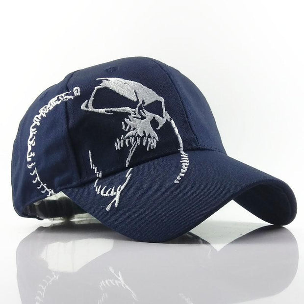 Skull Baseball Cap Washed Sun Hat