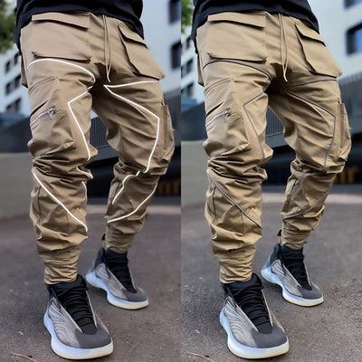 Multi-pocket cargo loose straight-leg outdoor running long pants