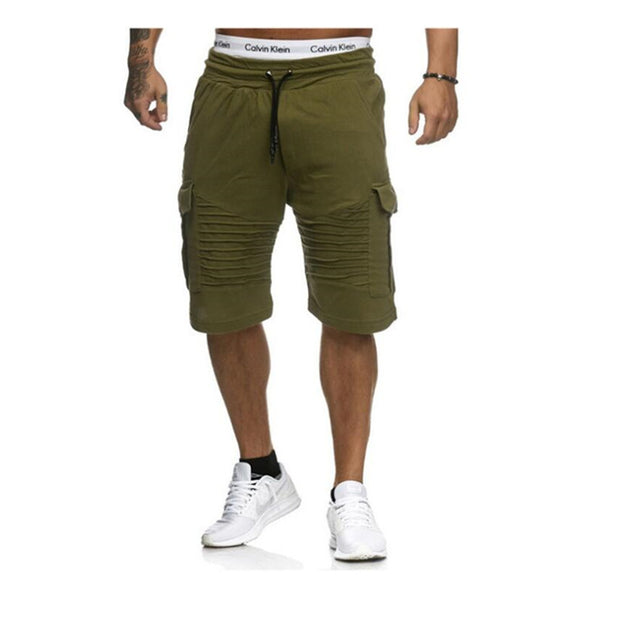 Men's Casual Summer Breathable Cotton Beach or Gym Stripe Shorts