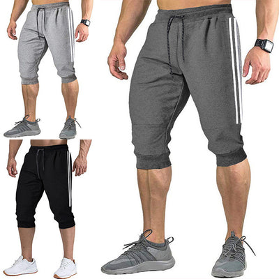 New men's five-point pants slim sports breathable casual shorts