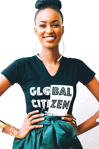 Our Global Citizen Tee is handmade in Kenya using eco-friendly and sustainable materials. It is available in black or white with our global citizen graphic on the front and the odAOMO logo on the back.  All odAOMO garments are designed by Dr. Sophia Aomo Omoro and produced in limited quantities.