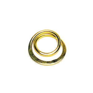 Materials: Recycled Solid Brass  Our Infinity Spiral Ring is handcrafted in Nairobi, Kenya by our local artisan using recycled brass to create a timeless statement ring.