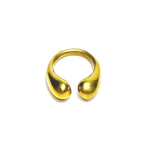 Materials: Recycled Solid Brass  Our Brass teardrop Collection is an odAOMO staple. Elegant and understated, each piece is handcrafted in Nairobi, Kenya using eco-friendly and sustainable materials. Available in a cuff, ring and torque. All odAOMO jewelry is designed by Dr. Sophia Aomo Omoro and produced in limited quantities.