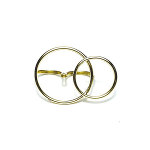 Our Brass Double Circle Ring is a great understated statement piece. Handcrafted in Nairobi, Kenya by our local artisan using eco-friendly and sustainable materials it's bound to be a conversation starter. All odAOMO jewelry is designed by Dr. Sophia Aomo Omoro and produced in limited quantities.