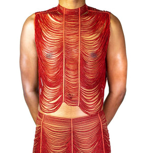 Glass Maasai Bead Cape