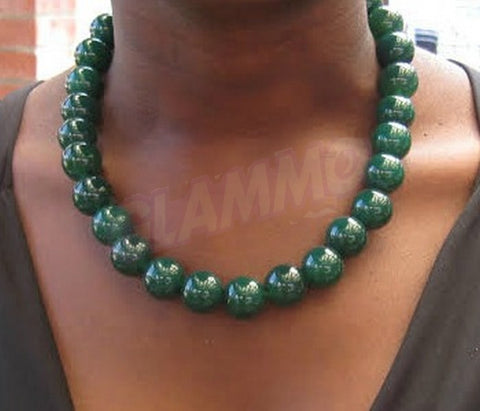 Canadian Jade 16mm necklace #st3097