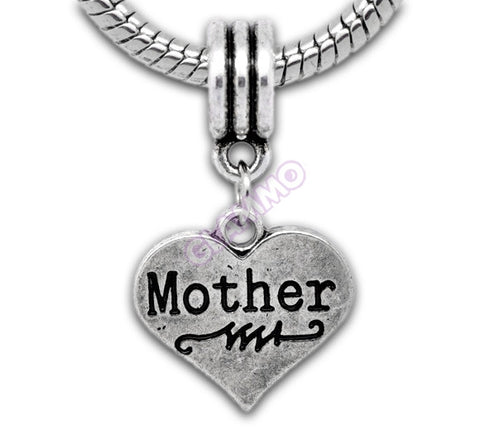 Dangling Mother Heart II European Bead #md4402