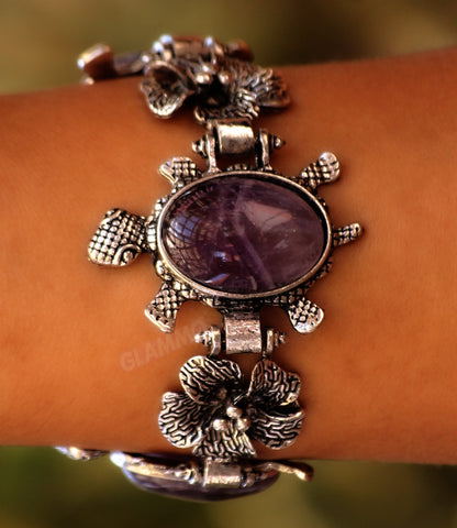 Three Amethyst Turtle Bracelets #br5016