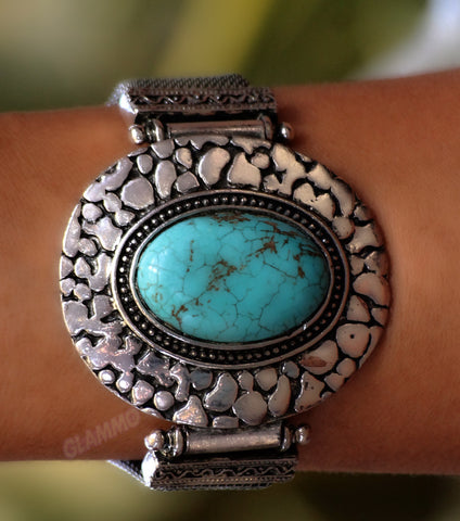 Classic Oval Turquoise Bracelet #br5026