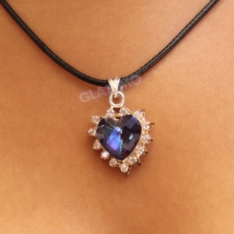 Romantic Heart Mystic Topaz Pendant #pd3119