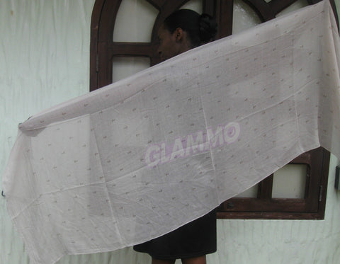 Beige anchor cotton scarf #tg1910