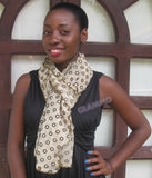 Beige gold dots party scarf #ps1811