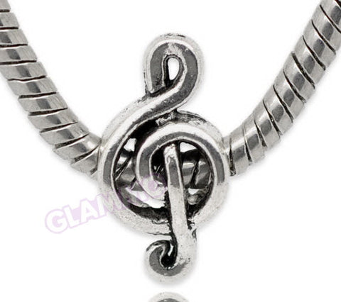 Music Clef Note European Bead #hb3250