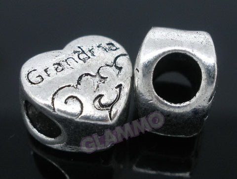 Grandma Heart European Bead #md4404
