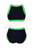 Blue neon green plus size monokini #oy925