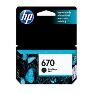 Cartucho HP Negro 670 (CZ113AL) Estandar