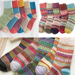 Bright Wool Socks (Unpackaged) -Random colour will be delivered