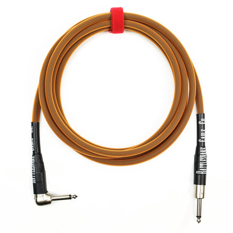 Rattlesnake Cable Company 10' Instrument Cable - Straight to Right Angle - Copper