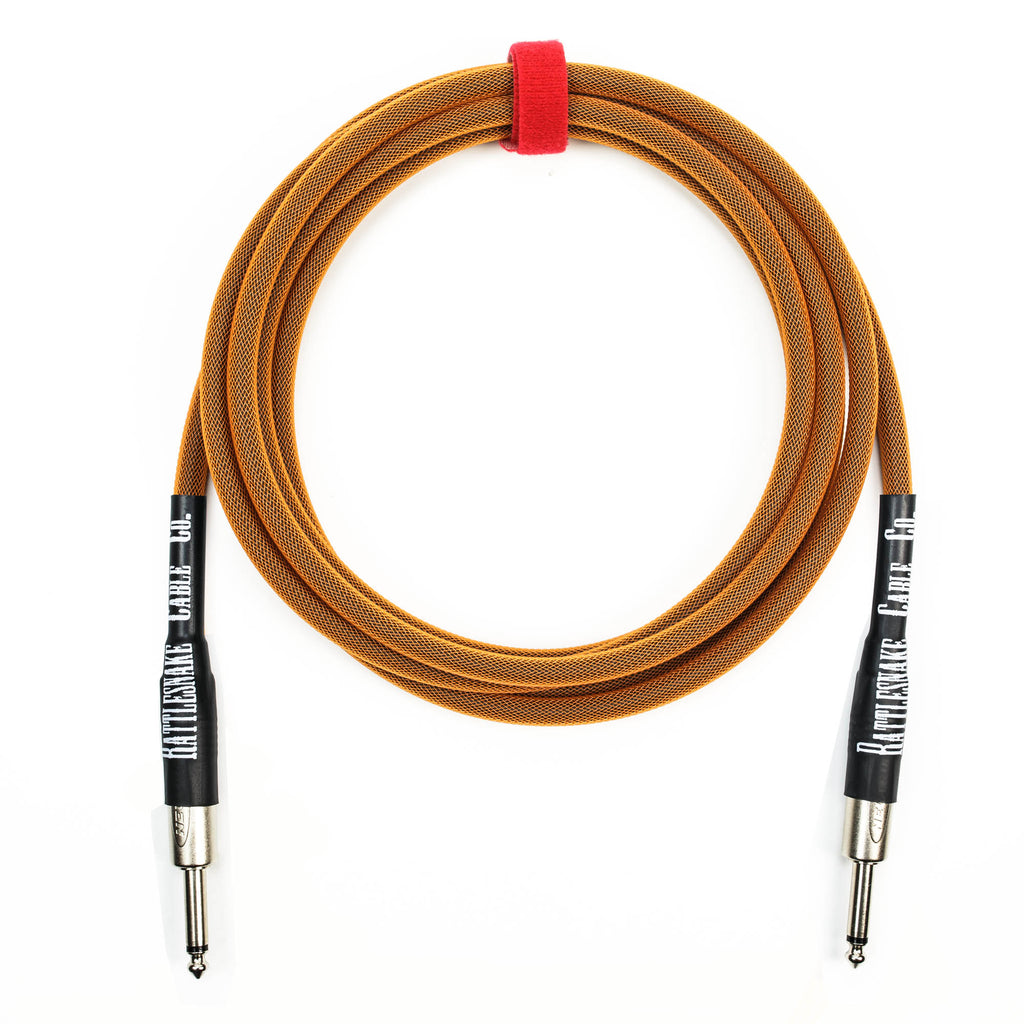 Rattlesnake Cable Company 10' Instrument Cable - Straight to Straight - Copper