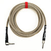 Rattlesnake Cable Company 15' Instrument Cable - Straight to Right Angle - Dirty Tweed
