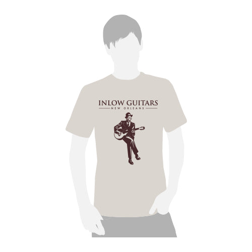 Inlow Guitars T-Shirt - ICONS Robert Johnson - Sand