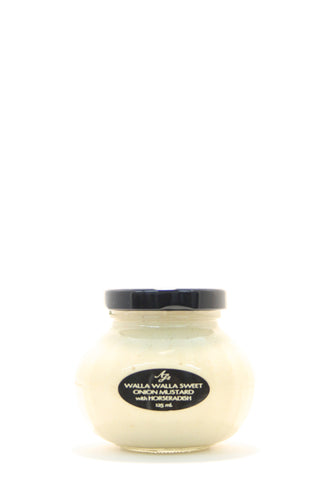AJ's Walla Walla Sweet Onion Mustard with Horseradish 125 ml.