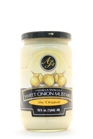 AJs Walla Walla Sweet Onion Mustard Original 16 oz.