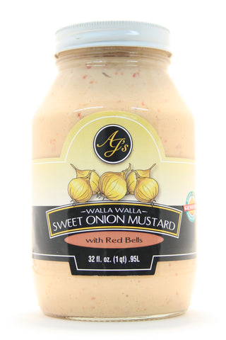 AJ's Walla Walla Sweet Onion Mustard with Red Bells