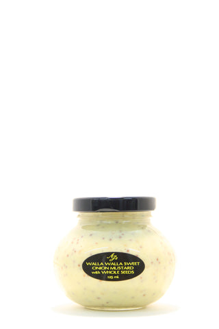 AJs Walla Walla Sweet Onion Mustard with Whole Seeds 125 ml.